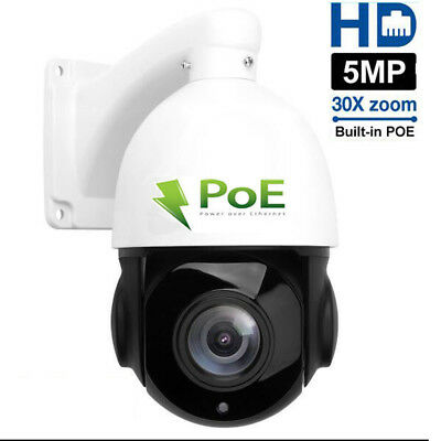 Built-in POE PTZ IP Camera 5MP HD 2592x1944 Pan/Tilt 30x Zoom Speed Dome (Poe Ptz Camera)