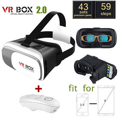 NEW With Bluetooth Controller Version Virtual Reality VR BOX II 2.0 3D Glasses