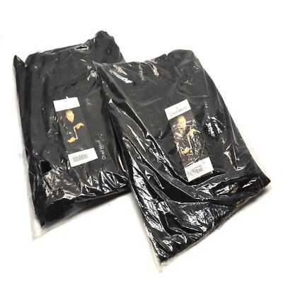2 New Chef Works Nbbp-000-4xl Black Baggy Designer Chef Pants 4x-large