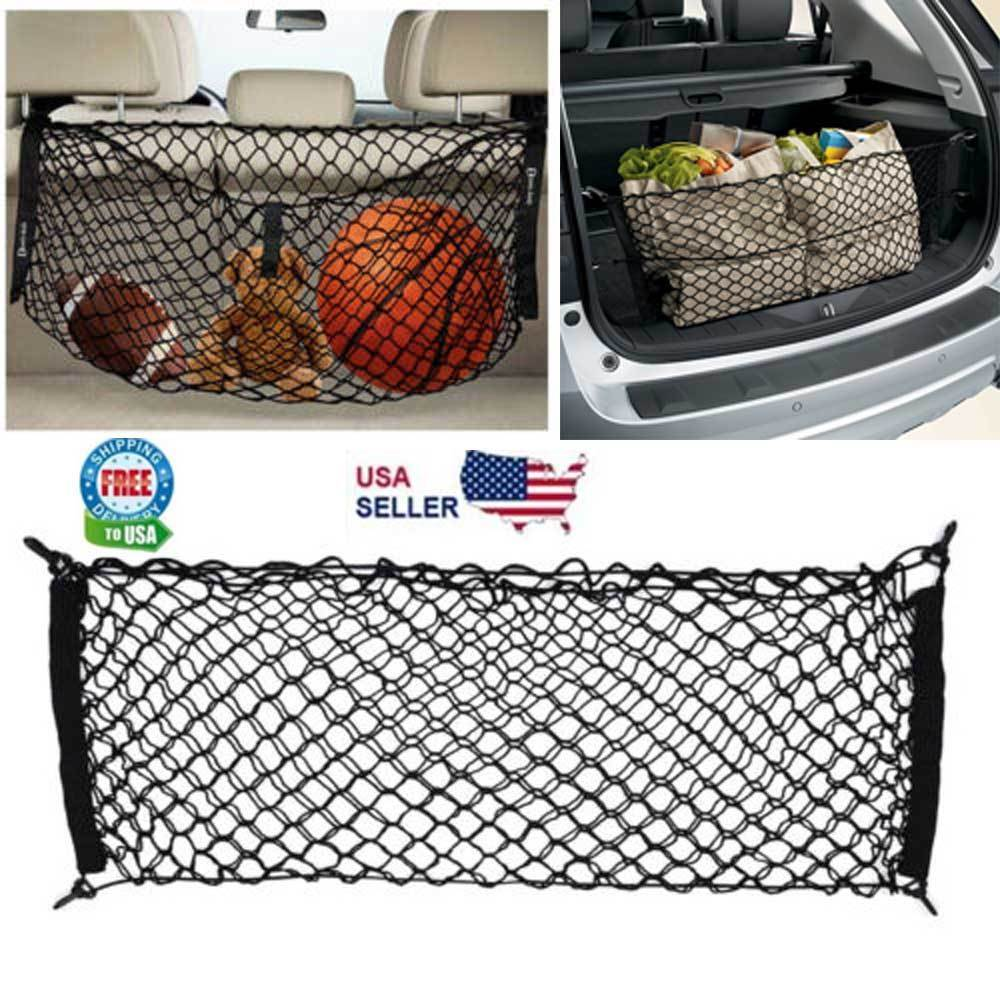 Trunk CARGO NET Car Nylon Elastic Mesh Organizer Truck SUV Universal 4 Hook Rear Car & Truck Parts