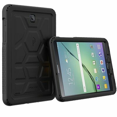 For Galaxy Tab S2 8.0 Poetic [TurtleSkin] Grip Protection Silicone Cover Black for sale  Shipping to India