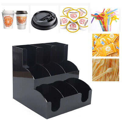 Cup Lid Dispenser Organizer Coffee Condiment Holder Caddy Coffee Cup Durable