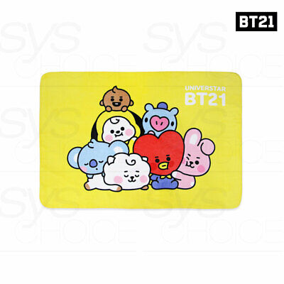 BTS BT21 Official Authentic Goods Baby Together Flannel Blanket +Tracking Number