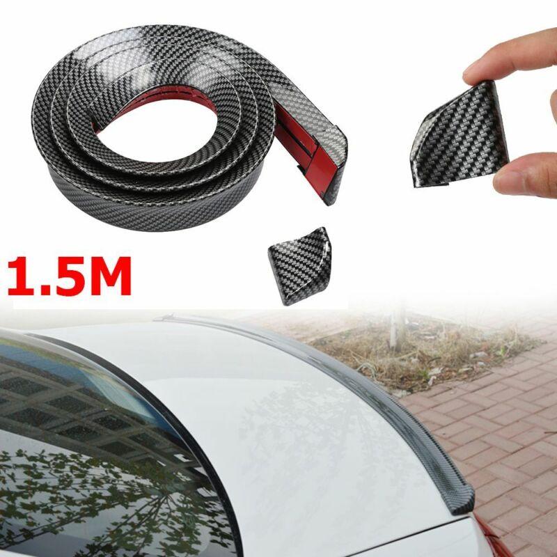"3D Carbon Fiber Car Rear Wing Lip Spoiler Tail Trunk Boot Roof Trim Luxury 59/"""