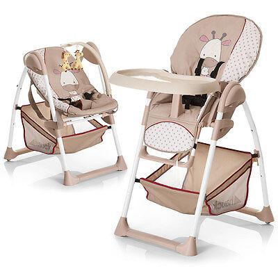 Hochstuhl & Babyliege ab Geburt - Hauck Sit'n Relax - Giraffe