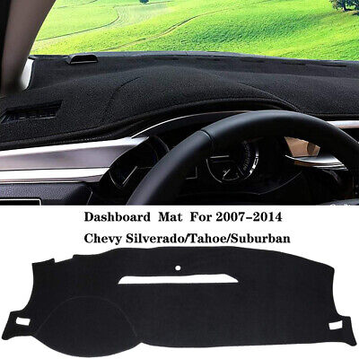 Black Dashboard Pad Dash Cover Mat For 2007 2014 Chevy SilveradoTahoeSuburban