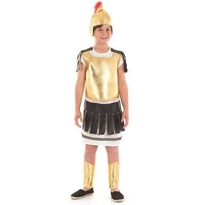 ROMAN SOLDIER COSTUME BOYS GREEK GLADIATOR FANCY DRESS CHILDS SCHOOL CURRICULUM - Childrens Roman Soldier Costume