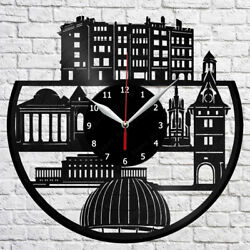 Geneva Skyline Vinyl Record Wall Clock Home Fan Art Decor 12'' 30 cm 7087