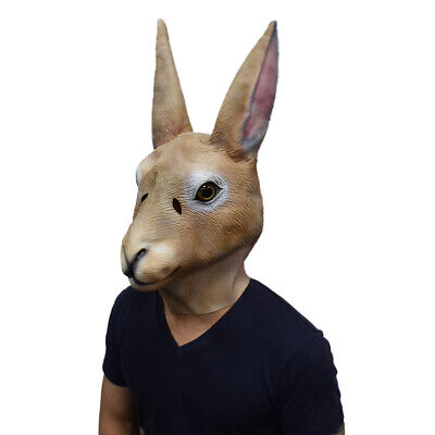 Bunny Mask Rabbit Animal Head Latex Mask Halloween Costume Face Disguise ](Halloween Bunny Face)