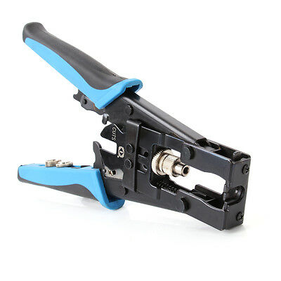 Pro 3in1 Compression Cable Crimper Tool For Connector Coax Rg58 Rg59 Rg6 Bnc Rca