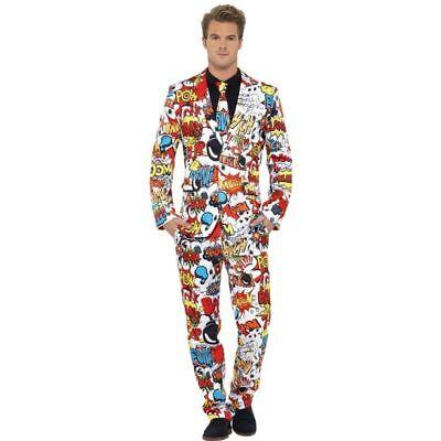Smi - Herren Kostüm Anzug Comic Strip Karneval Fasching Party