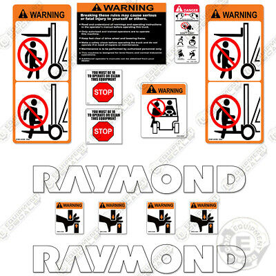 Raymond Pallet Jack Decal Kit With Warning Decals
