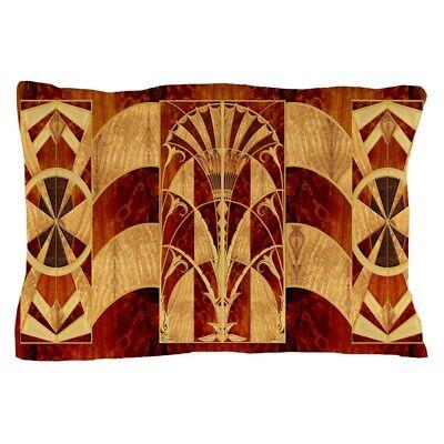 CafePress Harvest Moons Art Deco Panel Pillow Case