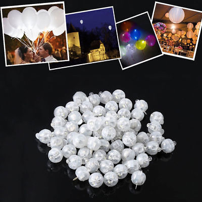 50/100/150Pcs Led Ball Lamps Balloon Light For Paper Lantern Wedding Party White (White Lanterns For Weddings)