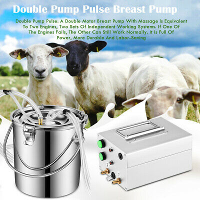 7l Portable Electric Milking Machine Vacuum Pump For Farm Cow Sheep Goat Milker