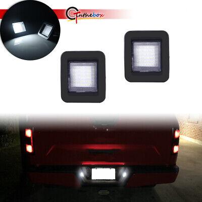 2x 3W White LED License Plate Light Kit For 15-up Ford F-150 & Ford 17-up Raptor