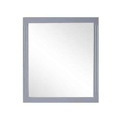 """Framed Mirror (32"""" W X 36"""" H) In Grey"""