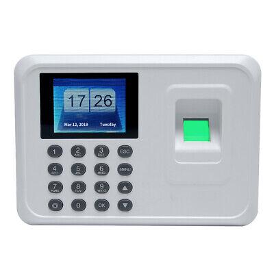 Employee Fingerprint Recorder Attendance Clock Time Card Machine 2.4 Tft New