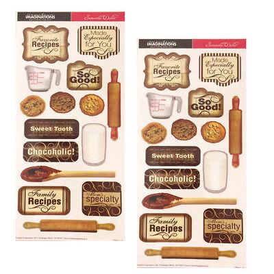 Recipe Scrapbook Stickers (Creative Imaginations Baking Cooking Recipe Scrapbooking Stickers (2)