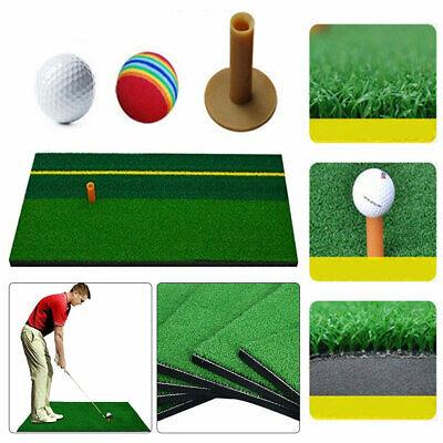 Out/Indoor Backyard Golf Mat Training Hitting Practice Equipm Rubber Holder Golf