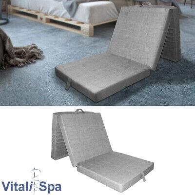 VitaliSpa® Colchón Plegable Cama Invitados Supletoria Viaje Gris
