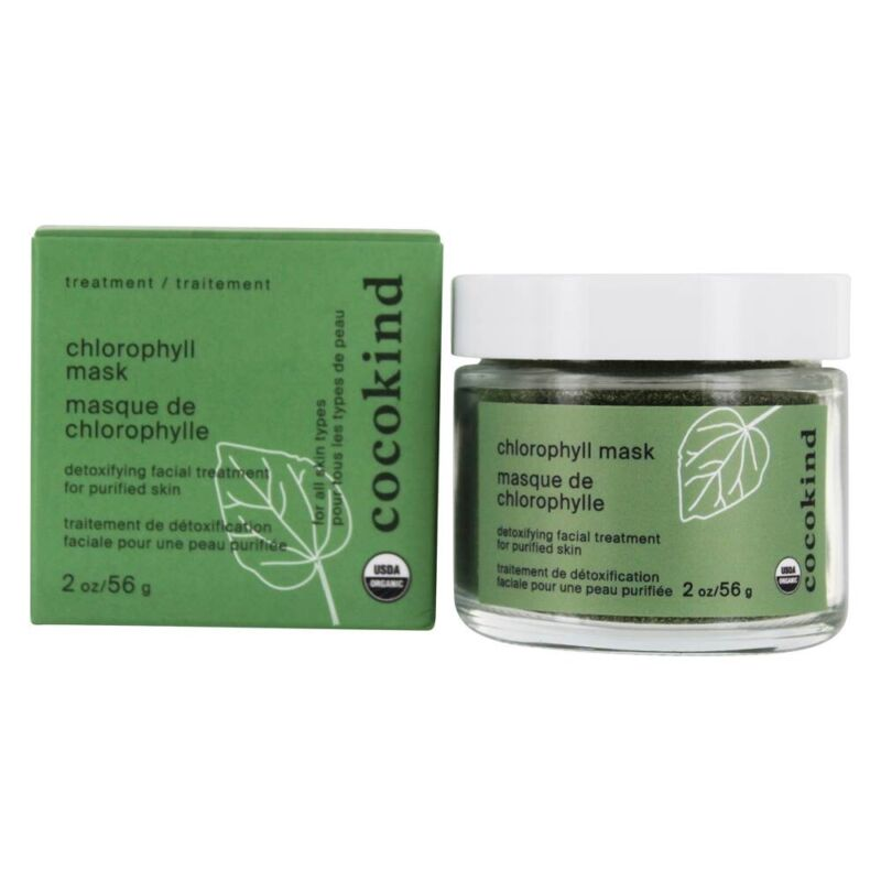 Cocokind Organic Chlorophyll Detox Facial Mask For Purified Skin -2 oz Exp.12/22