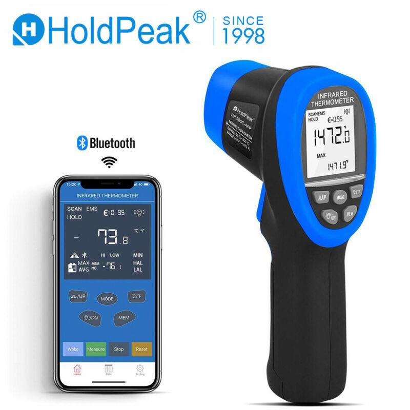 Digital -50-800°C Infrared Thermometer Bluetooth Temperature Gun Phone APP Meter