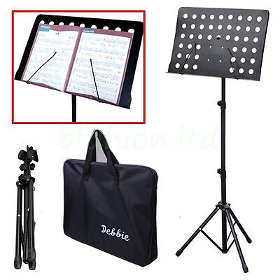 Heavy Duty Orchestral Conductor Sheet Music Stand Holder Tripod Base + Carry Bag
