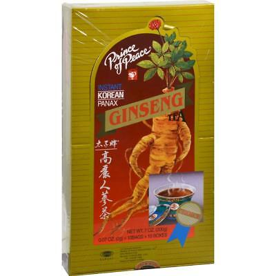 Instant Korean Panax Ginseng - Prince of Peace-Instant Korean Panax Ginseng Tea (10-.7 oz boxes)