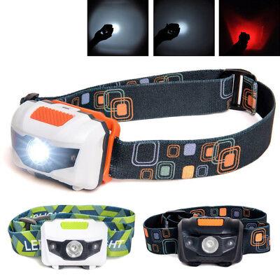 LED Kopflampe Stirnlampe Scheinwerfer mit Rotlicht für Angeln Wandern Camping