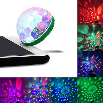 USB Mini LED RGB Disco Stage Light Party Club DJ KTV  Magic Phone Ball Lamp Neu