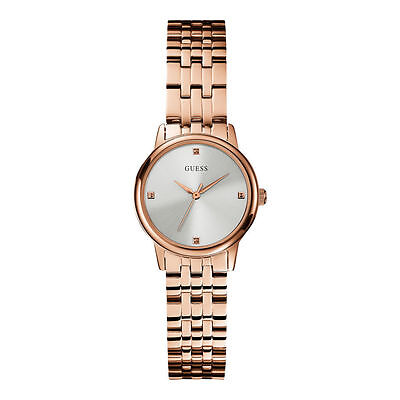 Guess Women's Analogue Quartz Steel Rose Gold Watch W0687L3