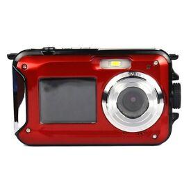 Brand New Underwater Waterproof Camera 2 screens for selfie