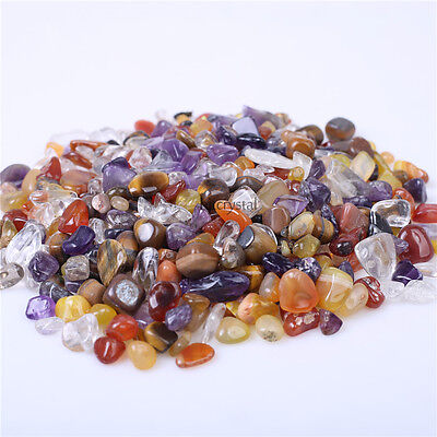 Wholesale 200g Bulk Tumbled Stones Mixed Agate Quartz Crystal Healing Minerals