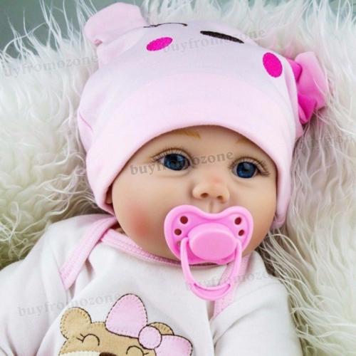 22'' Handmade Lifelike Newborn Silicone Vinyl Reborn Baby Doll Soft Body Gifts