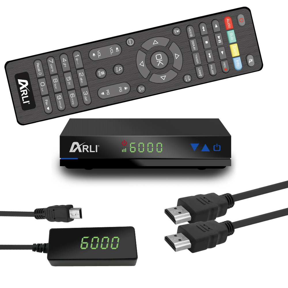 HD Sat Receiver digital Satelliten ARLI AH1 DVB-S2 HDTV HDMI USB mit Kanalliste