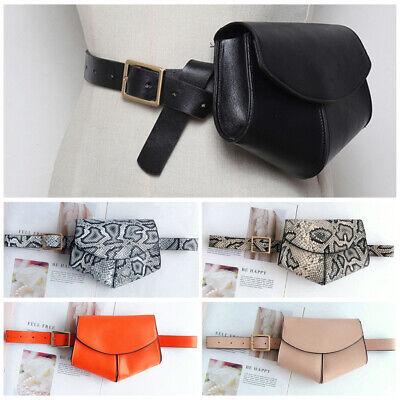 USA Women's PU Leather Mini Belt Bag Waist Pack Key Phone Purse Wallet Travel