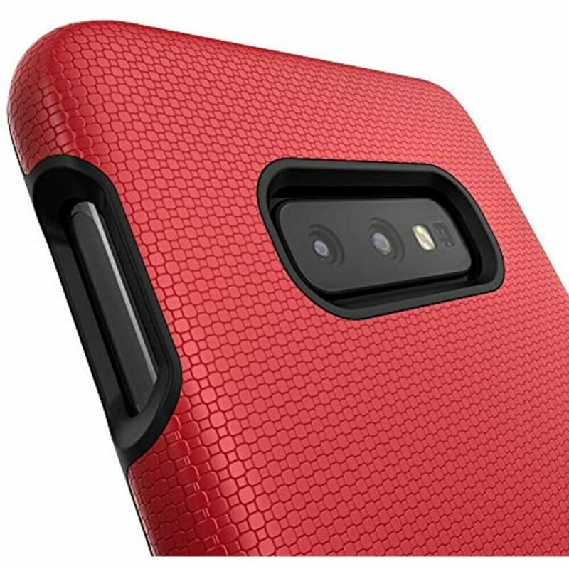 PAIR of S10e Cases, Crave Dual Guard Protection Series Samsung S10E Red and Navy