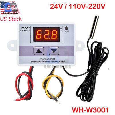 W3001 Digital Control Temperature Microcomputer Thermostat Switch 24v110v-220v