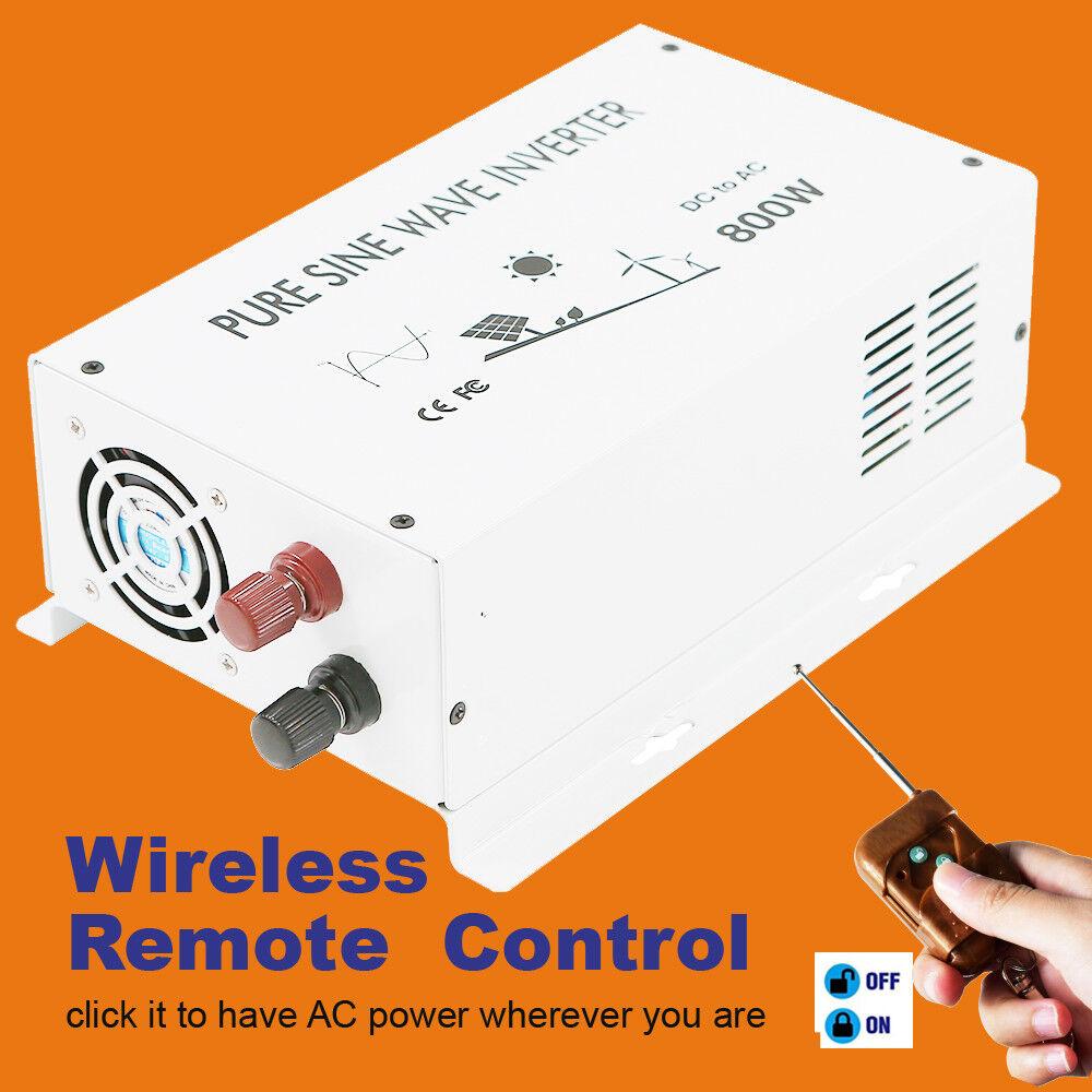 Car Power Solar Inverter 2000W 36V to  110V 120V Pure Sine Wave Remote Control