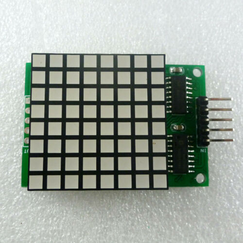 Arduino Demo code  Square Matrix LED 8x8 Red Dot display Module for Animation