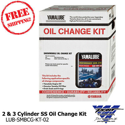 Yamaha Snowmobile 2 & 3 Cylinder 0W30 Semi Syn Oil Change Kit (Snowmobile Cylinder)