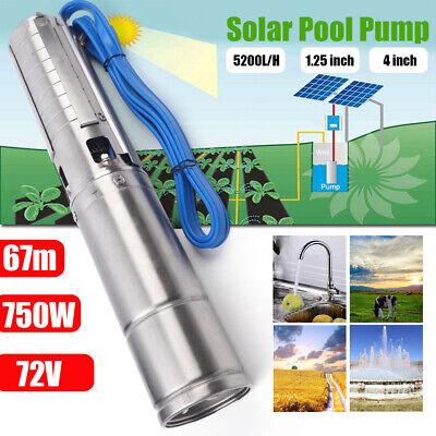 4 Dc Solar Deep Well Water Pump 750w Submersible Mppt Controller 5000lh Usa