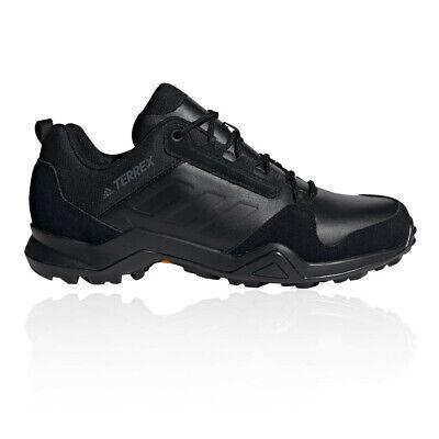 adidas Mens Terrex AX3 Lea Walking Shoes - Black Sports Outdoors Breathable