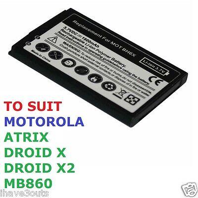 1800mAh High Quality Replacement Battery Motorola Atrix Droid X X2 BH6X MB860 (Akku Mb860)