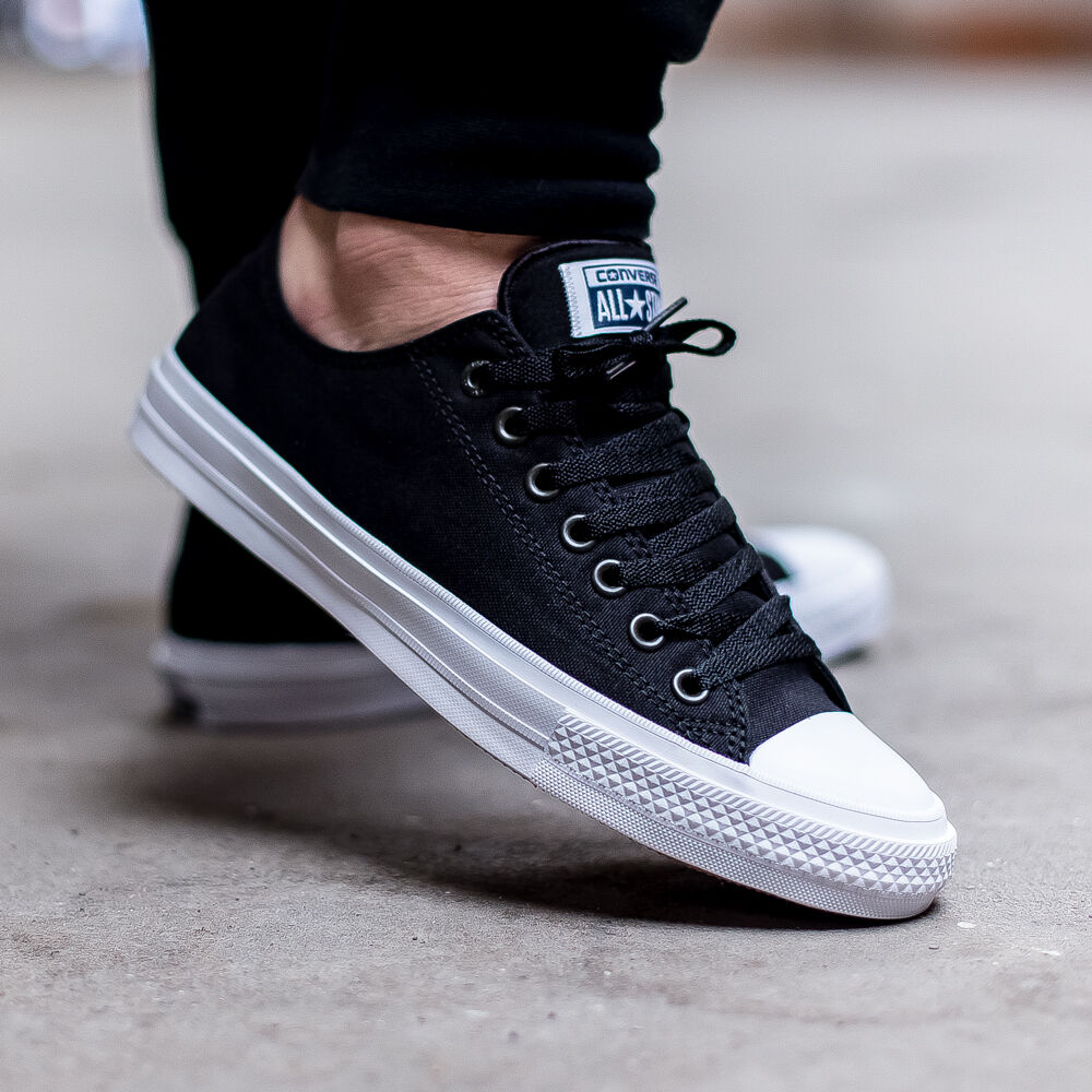 Converse Chuck Taylor All Star II 2 Lunarlon Sz 8 Black Low 150149C  DISCONTIUED