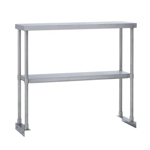 Commercial Kitchen Stainless Steel Double Overshelf for Work Tables 18X60