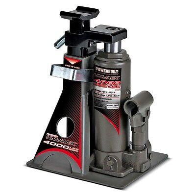 Powerbuilt 4000Lb Wide Base Lift Unijack Bottle Jack & Jackstand in One - 620470