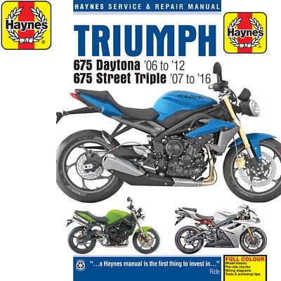 [4876] Triumph 675 Daytona Street Triple 2006-10 Haynes Workshop Manual