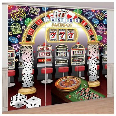 CASINO SCENE SETTER Party Wall Decoration Slot Machines Mega Jackpot Backdrop](Jackpot Casino Parties)